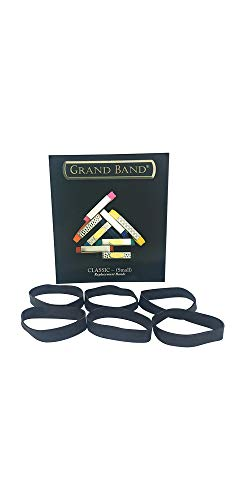 Grand Band Replacement Bands - Rubber Money Band 6 PACK, Minimalist Wallet