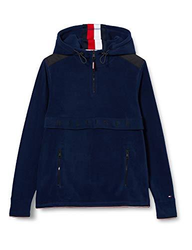 Tommy Hilfiger Herren Polar Fleece Anorak Sweatshirt, Blau (Blue Dw5), One Size (Herstellergröße: Large)