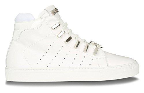 4US CESARE PACIOTTI Scarpe Sneakers Uomo 4US Real Calf RRLU7TRF White Pelle PE