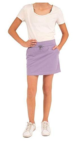 Boston Traders Girl's Cotton French Terry Skort (Chalk Violet, L(12-14))