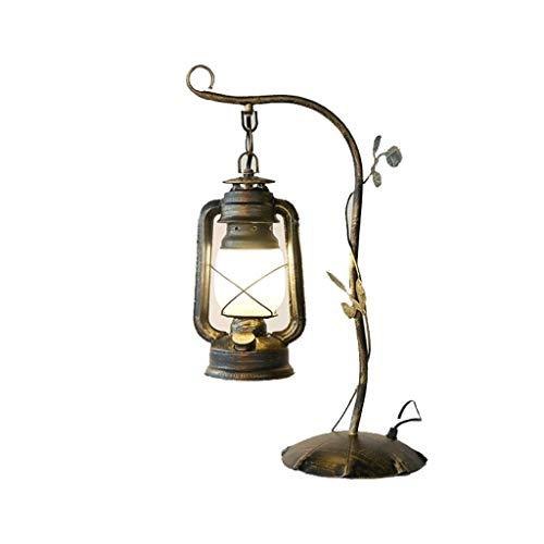 Zhenmu home Americana Dormitorio País Retro Mesita de luz de la lámpara Estudio Cafe Hierro lámpara de keroseno Lámparas Caballo de la Manera Creativa