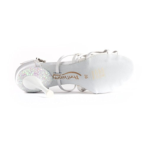 PortDance Donne Scarpe da Ballo/Scarpe da Sposa PD800 Pro - Raso Bianco - 5.5 cm Slim [EUR 40]