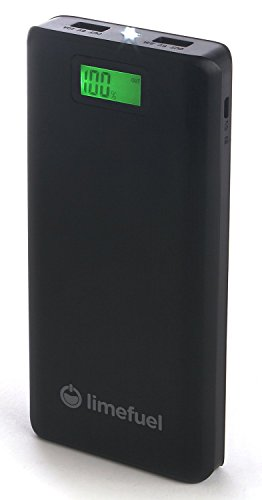 Limefuel LP200X USB External Battery Pack with Flashlight - Black
