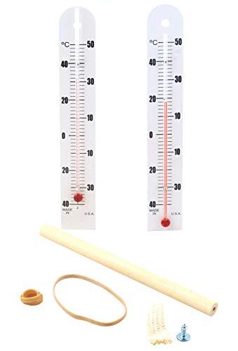 Kit de psicrómetro Economy Sling que contiene 1 bombilla seca y 1 termómetro de bombilla húmeda