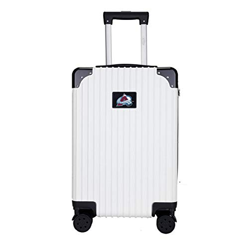 Save %14 Now! Denco NHL Colorado Avalanche Two-Tone Premium Carry-On Hardcase Luggage Spinner