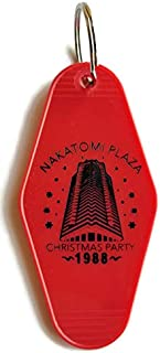 Nakatomi Plaza Christmas Party 1988 Die Hard Red/Black Inspired Key Tag