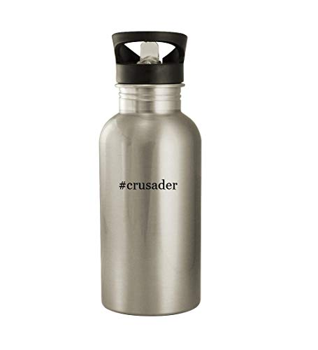 #crusader - 20oz Hashtag Stainless Steel Water Bottle, Silver