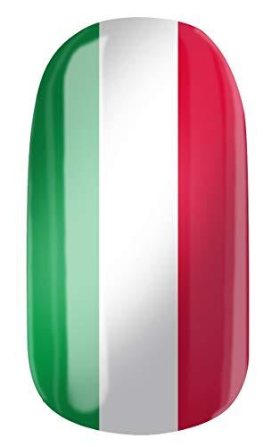 VENGANAILS Nagelfolie - Italiaanse vlag, Italiaanse vlag, Italiaanse vlag, Italiaanse vlag, nationale kleuren, fanartikel voor vrouwelijke voetbalfans, High Performance Nail Wraps, geen import uit Azië