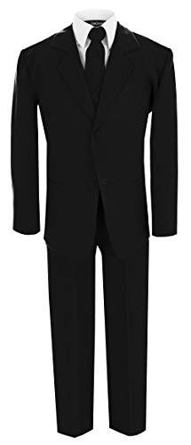 Little Boy's Formal Dresswear Set G214 (6, Black Suit)