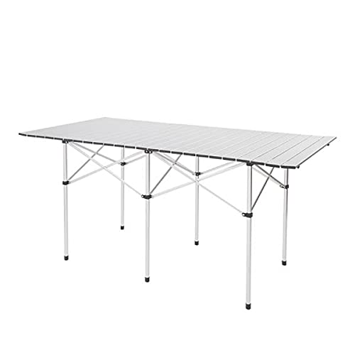 EastVita Mesa de camping plegable al aire libre, mesa de picnic portátil, mesa plegable para interiores y exteriores, para barbacoas, fiestas de picnic