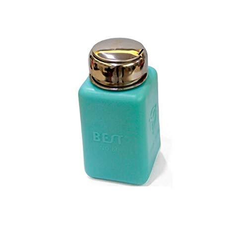 One Touch RVS Vloeibare Dispenser Pomp ESD Veilige Vierkante Fles Blauw 200ml