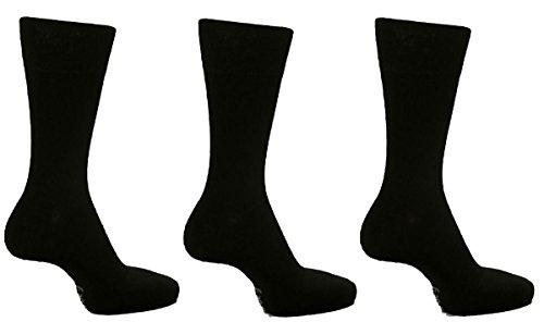 6Paar Herrensocken Drew Brady, nicht elastisch / verschiedene Farben / UK-Größen 6–11(EU-Größen 39-45) & 12–14 (48-50,5) Gr. XX-Large, Schwarz Mix