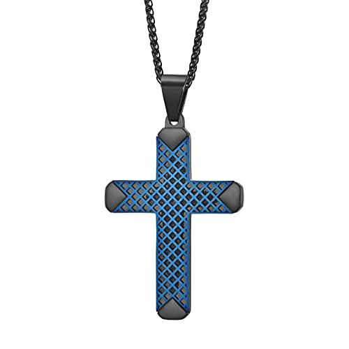 JO WISDOM Cross Necklace 316L Stainless Steel...