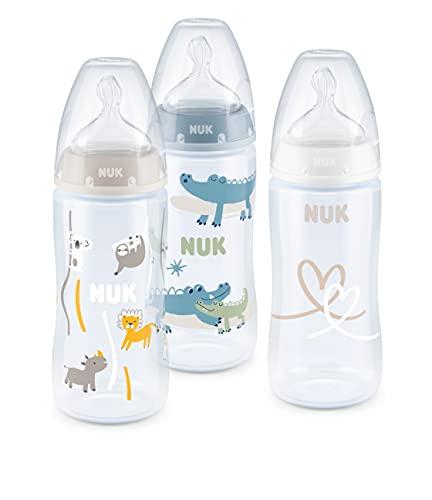 NUK First Choice+ set biberon | 0-6 mesi | Controllo temperatura | Sfiato Anti-Colica | Senza BPA |...