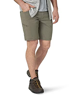 ATG by Wrangler Men's Flap Pocket Utility Short, Earth Green, 38