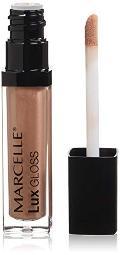 Marcelle Lux Gloss Crème, Spicy Nude, Hypoallergenic and Fragrance-Free, 0.19 fl oz (0.18 Ounce Lip Plumpers)