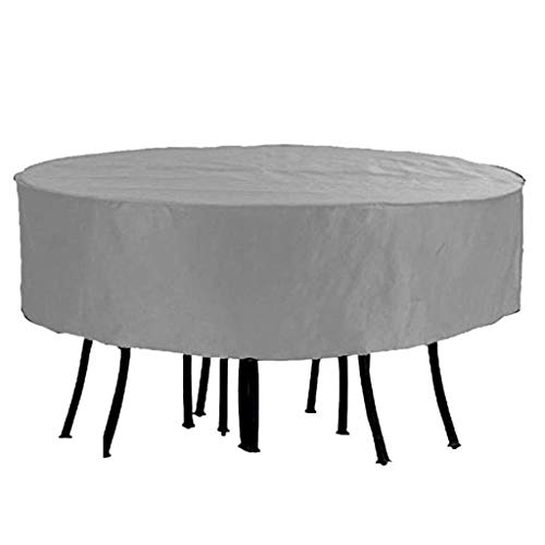 BAOFI Garden Furniture Covers Waterproof 60x60cm, Patio Furniture Cover Round Cold Protection Oxford Cloth Durable Protection Outdoor Table And Chairs Tarpaulin, 2 Colors, 25 Sizes, Customizable,Gray