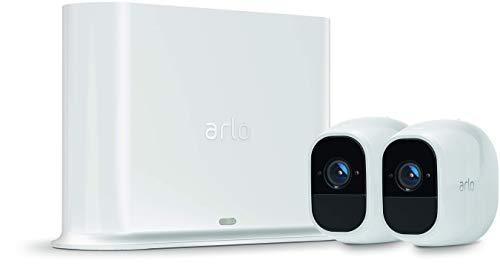 Arlo Pro 2 - カメラ2台セット 防犯 動体検知 ワイヤレス ネットワークカメラ 防水 配線工事不要 スマホ 屋外【Works with Alexa認定製品】(VMS4230P) / 民泊 無人施設 等にも 最適