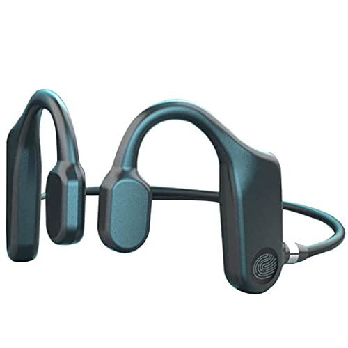 HIFI Auriculares inalámbricos de conducción ósea Bluetooth, Auriculares estéreo con auriculares 5.1, Auriculares deportivos Auriculares inalámbricos con Bluetooth, Duración de la batería de 180 mAh, C