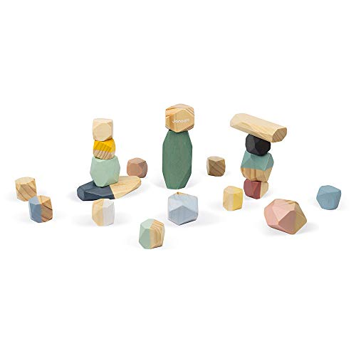 Janod Sweet Cocoon Stacking Stones for Ages 2+ (J04401)