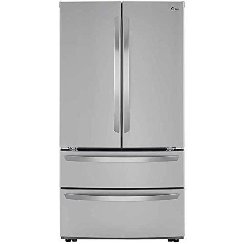 LG Electronics 26.9 cu. ft. 4-Door French Door Refrigerator with Internal Water Dispenser in PrintProof Stainless Steel
