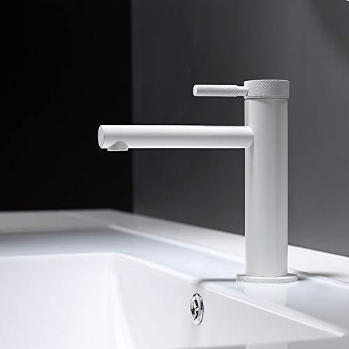 JF-XUAN Moderna minimalista tocador de baño completo cobre Cilindro grifo de agua caliente y fría acondicionado del hogar creativo del hotel orificio de grifo hermoso práctica Ducha Baño Grifería Herr