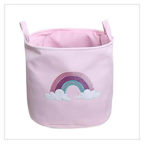 ZAIZAI Canasta de lavandería arcoíris Brillante, Juguetes para bebés y niños, Barril de Almacenamiento, Cubo de Almacenamiento de Ropa Sucia, Canasta de lavandería, Organizador de Juguetes para niña