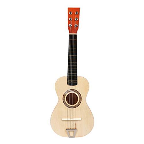 WOLFBUSH Guitar Toy for Children 6 Strings Acoustic Guitar Simulation Kids Guitar for Beginner Education Musical Instrument Toy Best Gift for Children Boys Girls (Burlywood)