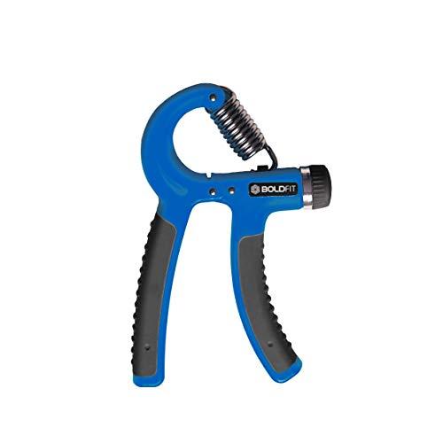 Boldfit Adjustable Hand Grip Strengthener, Hand Gripper for Men & Women for Gym Workout & Home Use.(Forearm Exercise Equipment/Wrist Excercise Equipment) - (Blue)