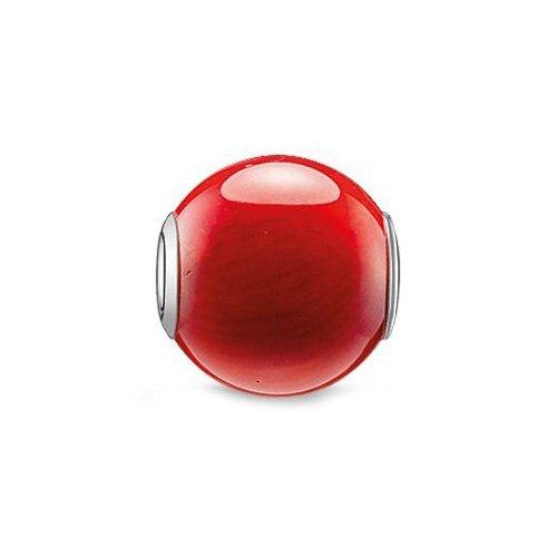 THOMAS SABO Damen-Bead Rote Bambuskoralle Perle 925 Silber Koralle - K0092-590-10