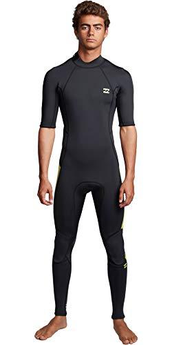 BILLABONG Mens 2mm Absolute Back Zip Short Sleeve Wetsuit S42M69 - Lime Wetsuit Size - L