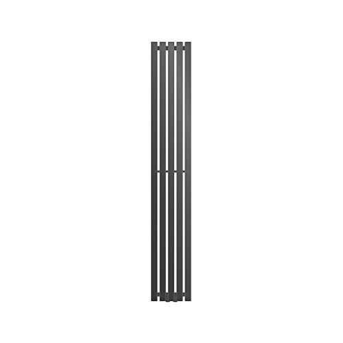 ECD Germany Radiatore Termosifone Termoarredo Scaldasalviette Stella Verticale Piatto - 260 x 1400 mm - Antracite - Radiatore Scaldasalviette Asciugamani da bagno Verticale Piatto 260x1800 mm