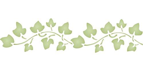 Efeu-Schablone – wiederverwendbare Wandschablonen zum Malen – Beste Qualität Wand Bordüre Blatt Schablone Ideen – Verwendung auf Wänden, Böden, Stoffen, Glas, Holz, Terrakotta und mehr ..., Large