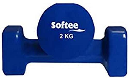 Softee Equipment 24401.003.3 - Juego pesas vinilo 2 x 1 Kg para fitness, rojo, 2 X 1 kg