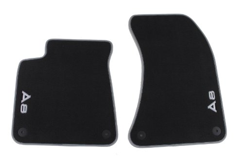 Genuine Audi Accessories 4H1061275MNO Black Front Premium Carpeted Floor Mat for Audi A8, (Set of 2)