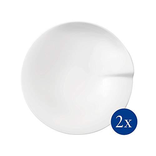 Villeroy & Boch - Pasta Passion Pastateller-Set M, 2 tlg., 27,2 cm, Premium Porzellan, spülmaschinen-, mikrowellengeeignet, weiß