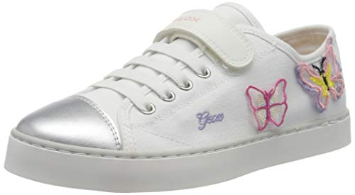 Geox JR CIAK Girl I, Zapatillas Niñas, Blanco (White/Pink C0406), 33 EU