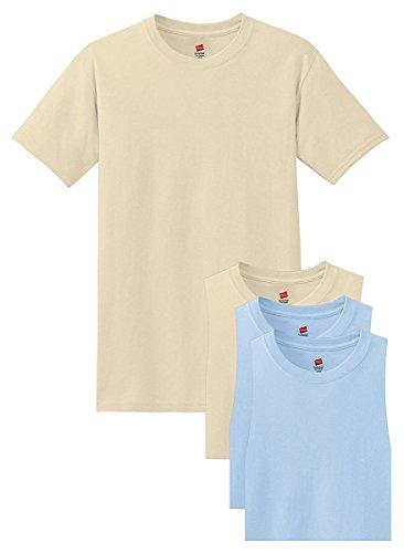 Hanes Lot de 4 t-shirts doux et confortables à col rond - - Taille M