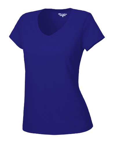 Champion Damen Favorite V-Neck Tee - Blau - X-Klein