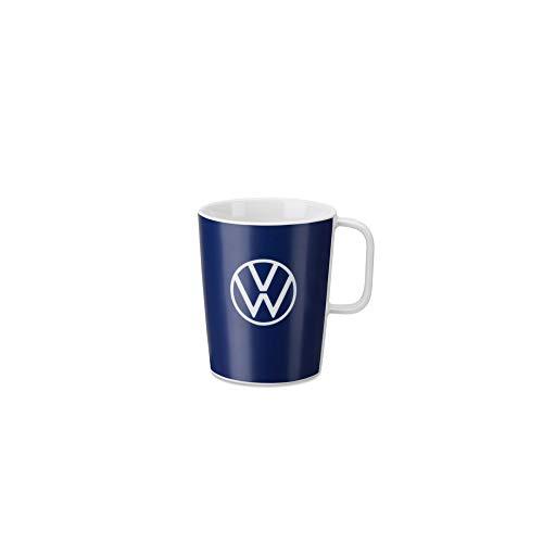 Volkswagen 000069601BR Tasse Becher Kaffeetasse Porzellan blau, mit VW Logo