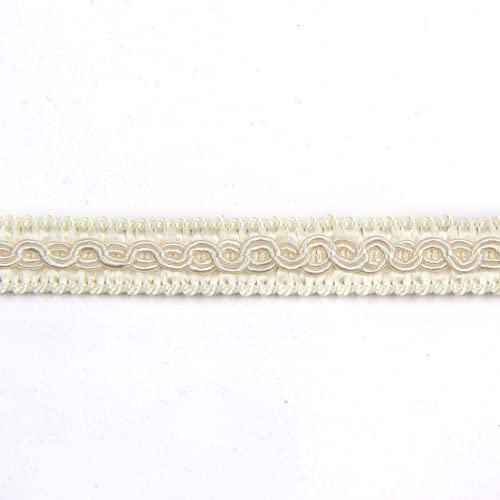 Fenghuangwu 13 Yard Handmade Basic Trim 1,3 cm Durchmesser Gimpe Braid for DIY Decor (Beige)