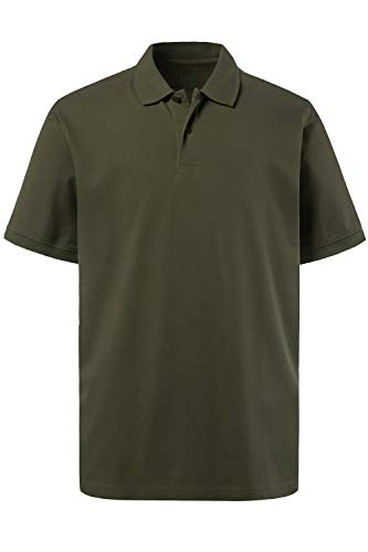 JP 1880 Herren große Größen bis 8XL, Poloshirt, Oberteil, Knopfleiste, Hemdkragen, Pique, Khaki L 702560 44-L