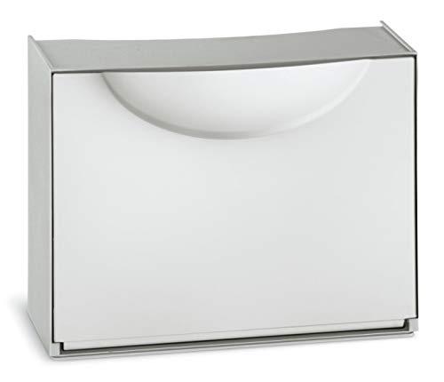 Terry - Zapatero de plástico Harmony, Blanco, 51x 19x 39cm