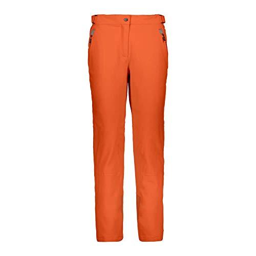 CMP Pantaloni Feel Warm Flat 10.000 3w18596n, Donna, Orange, 46