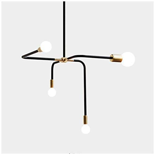 ZLHW Kronleuchter Pendelleuchten Galvanik Eisen 4 Kopf Molekularlampe Magische Bohne Lampe Moderne Persönlichkeit Wohnzimmer Schlafzimmer Hängelampe [Energieklasse A ++]