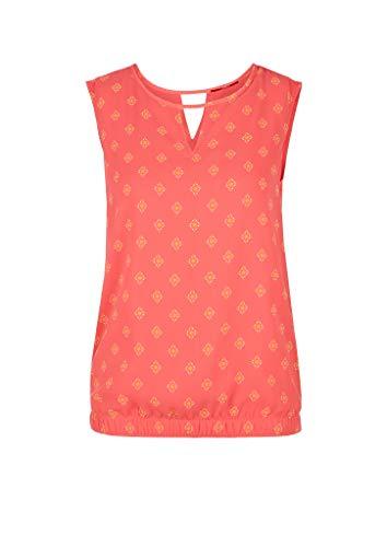 s.Oliver Damen Bluse ärmellos Coral AOP 40