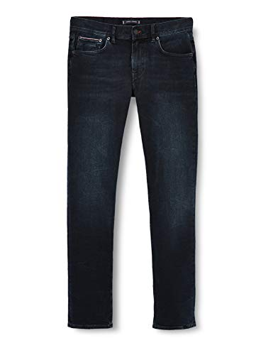 Tommy Hilfiger Herren Straight Denton Str Burke Blue Straight Jeans, Blau (Denim 1bo), W31/L32