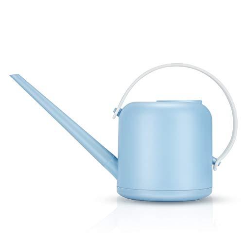 LQKYWNA 1800ml PP Bonsai Regadera Olla, Extraíble Caño Largo Regadera Olla De Riego Pequeña para Interiores Y Exteriores (Blue)