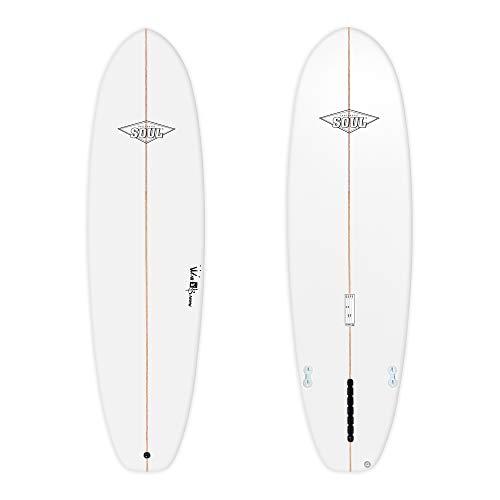 Soul Surfboards Fat Wombat Tabla de Surf, Adultos Unisex, Blanco, 6'10