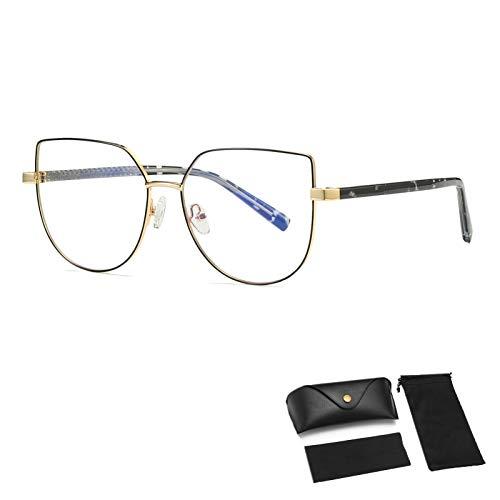 HUALUWANG Gafas Anti-Azules,Gafas de Luz Azul Azul para Mujer/Hombre, Adecuadas para Adolescentes, Gafas Cuadradas para Ordenador, Anti-Fatiga Ocular/UV/Reflejos, Gafas de Juego, Gafas de Lectura